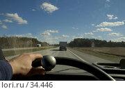 На трассе: дорога глазами водителя. Стоковое фото, фотограф Игорь Соколов / Фотобанк Лори