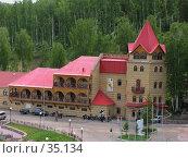 Купить «Корпус горнолыжного центра Абзаково», фото № 35134, снято 4 июня 2006 г. (c) Талдыкин Юрий / Фотобанк Лори