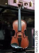 Купить «Скрипка с футляром», фото № 35206, снято 17 июля 2018 г. (c) Андрей Соколов / Фотобанк Лори