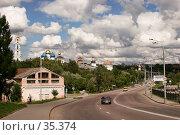 Купить «Сергиев Посад, вид на шоссе и центр», фото № 35374, снято 8 августа 2006 г. (c) Vladimir Fedoroff / Фотобанк Лори