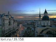 Купить «Улица Белинского вечером, Санкт-Петербург», фото № 39158, снято 9 мая 2005 г. (c) Vladimir Fedoroff / Фотобанк Лори