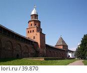 Купить «Новгородский кремль (Башня Кокуй, Великий Новгород)», фото № 39870, снято 21 июля 2003 г. (c) Евгений Батраков / Фотобанк Лори