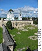 Купить «Псков. Довмонтов город и кремль», фото № 39986, снято 13 сентября 2005 г. (c) Марина Грибок / Фотобанк Лори