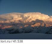 Купить «Кавказ, вид с Эльбруса», фото № 41538, снято 12 мая 2005 г. (c) Александр Демшин / Фотобанк Лори
