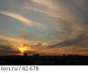 Уходящее солнце. Стоковое фото, фотограф Коннов Георгий / Фотобанк Лори