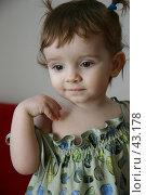 Купить «Девочка с маленькими хвостиками», фото № 43178, снято 23 декабря 2004 г. (c) Harry / Фотобанк Лори