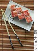 Купить «Японское угощение — роллы», фото № 44558, снято 17 мая 2007 г. (c) Давид Мзареулян / Фотобанк Лори