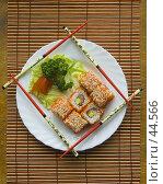 Купить «Японское угощение — роллы», фото № 44566, снято 17 мая 2007 г. (c) Давид Мзареулян / Фотобанк Лори