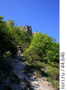Купить «Подъем на плато Чуфут-Кале», фото № 44646, снято 13 мая 2007 г. (c) Михаил Баевский / Фотобанк Лори