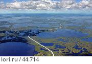 Купить «Дорога на нефтяной промысел в Западной Сибири», фото № 44714, снято 22 сентября 2019 г. (c) Владимир Мельников / Фотобанк Лори