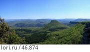 Купить «Вид на гору Тепе-Кермен», фото № 46874, снято 20 августа 2018 г. (c) Михаил Баевский / Фотобанк Лори