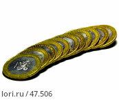Купить «Юбилейные монеты», фото № 47506, снято 26 мая 2007 г. (c) Куприянов Евгений / Фотобанк Лори