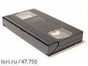 Купить «Видеокассета на белом фоне», фото № 47750, снято 28 мая 2007 г. (c) Угоренков Александр / Фотобанк Лори