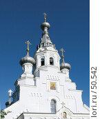 Купить «Западный фасад с колокольней собора Владимирской иконы Божией Матери. Кронштадт.», фото № 50542, снято 3 июня 2007 г. (c) Людмила Жмурина / Фотобанк Лори