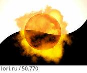 Купить «Огненный шар. Борьба противоположностей.», иллюстрация № 50770 (c) Захаров Владимир / Фотобанк Лори