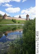Купить «Суздаль. Стена и башни Спасо-Евфимиева монастыря отраженные в воде», фото № 52450, снято 11 июня 2007 г. (c) Julia Nelson / Фотобанк Лори