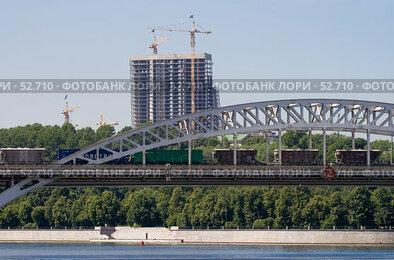 Купить «Железнодорожный мост», фото № 52710, снято 9 июня 2007 г. (c) Юрий Синицын / Фотобанк Лори