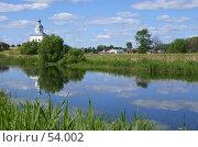 Купить «Суздаль. Вид на Ильинскую церковь через Каменку.», фото № 54002, снято 11 июня 2007 г. (c) Julia Nelson / Фотобанк Лори