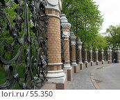 Купить «Санкт-Петербург, Ограда Михайловского сада», фото № 55350, снято 20 мая 2007 г. (c) Александр Секретарев / Фотобанк Лори