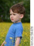 Купить «Ребенок и цветы», фото № 56074, снято 10 июня 2006 г. (c) Останина Екатерина / Фотобанк Лори