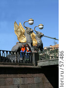 Купить «Санкт-Петербург, Вид с акватории Канала Грибоедова, Банковский мост», фото № 57486, снято 2 июня 2007 г. (c) Александр Секретарев / Фотобанк Лори
