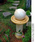 Купить «Декоративный садовый фонтанчик», фото № 63030, снято 17 июля 2007 г. (c) Тим Казаков / Фотобанк Лори