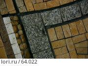 Купить «Фрагмент каменной мозаики из камней различных размеров», фото № 64022, снято 11 июня 2005 г. (c) Harry / Фотобанк Лори