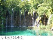 Купить «Водопады, Плитвицкие озера, Хорватия», фото № 65446, снято 15 июля 2007 г. (c) Golden_Tulip / Фотобанк Лори