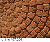 Купить «Красная брусчатка, выложенная кругом, под ярким вечерним солнцем», фото № 67206, снято 7 июля 2004 г. (c) Harry / Фотобанк Лори