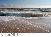 Купить «Волна, след на песке», фото № 68914, снято 19 сентября 2018 г. (c) SummeRain / Фотобанк Лори