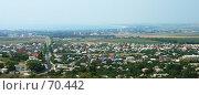 Вид на город Анапу с высоты птичьего полета солнечным днем (2007 год). Стоковое фото, фотограф Вячеслав Осокин / Фотобанк Лори