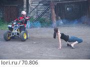 Купить «Выступление каскадера. Сетуньская крепость, Москва», эксклюзивное фото № 70806, снято 10 июня 2007 г. (c) Ирина Мойсеева / Фотобанк Лори