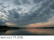 Купить «Закат на Оке», фото № 71018, снято 11 июля 2007 г. (c) Николай Богоявленский / Фотобанк Лори