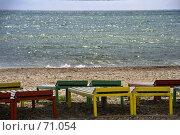 Купить «Лежаки на пляже», фото № 71054, снято 23 мая 2018 г. (c) SummeRain / Фотобанк Лори