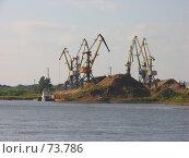 Купить «Разгрузка речного песка», фото № 73786, снято 14 августа 2007 г. (c) Талдыкин Юрий / Фотобанк Лори