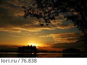 Купить «Закат на озере», фото № 76838, снято 28 июня 2007 г. (c) Старкова Ольга / Фотобанк Лори