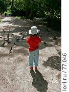 Девочка и голуби. Стоковое фото, фотограф Федюнин Александр / Фотобанк Лори