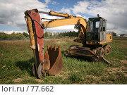 Купить «Экскаватор», фото № 77662, снято 30 августа 2007 г. (c) Игорь Веснинов / Фотобанк Лори