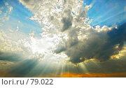 Купить «Лучи солнца проходят сквозь облака», фото № 79022, снято 18 августа 2007 г. (c) Vasily Smirnov / Фотобанк Лори