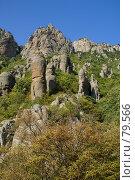 Купить «Гора Демерджи, долина привидений (Крым, Украина)», фото № 79566, снято 26 августа 2007 г. (c) Бутинова Елена / Фотобанк Лори