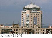 Купить «Высотное здание на фоне голубого неба», фото № 81546, снято 16 июня 2007 г. (c) Harry / Фотобанк Лори