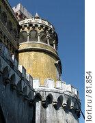 Купить «Башня замка Пена», эксклюзивное фото № 81854, снято 19 сентября 2018 г. (c) Михаил Карташов / Фотобанк Лори