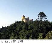 Купить «Замок Пена на вершине горы», эксклюзивное фото № 81878, снято 29 июля 2007 г. (c) Михаил Карташов / Фотобанк Лори