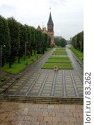 Купить «Аллея, ведущая к музейному комплексу «Кафедральный собор»», фото № 83262, снято 3 сентября 2007 г. (c) Parmenov Pavel / Фотобанк Лори