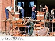Купить «Строители в Царицыне», фото № 83886, снято 9 августа 2007 г. (c) Алексей Судариков / Фотобанк Лори