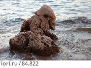 Купить «Камень необычной формы на берегу моря», фото № 84822, снято 11 июля 2007 г. (c) Golden_Tulip / Фотобанк Лори