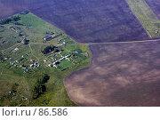 Купить «Небольшие постройки, вид с самолета», фото № 86586, снято 27 декабря 2007 г. (c) Сергей Лешков / Фотобанк Лори
