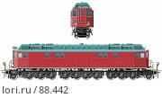 Купить «Советский магистральный ретро локомотив 30-х годов (с векторным обтравочным контуром)», иллюстрация № 88442 (c) Александр Володин / Фотобанк Лори