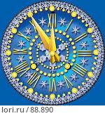 Купить «Новогодние часы», иллюстрация № 88890 (c) Куликова Татьяна / Фотобанк Лори