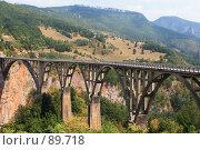 Купить «Черногория. Мост Джурджевича Тара», фото № 89718, снято 29 августа 2007 г. (c) Сергей Лебедев / Фотобанк Лори